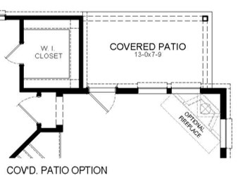 Covered Patio Option Floor Plan