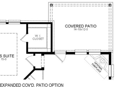 Expanded Patio Option Floor Plan