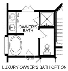 Luxury Master Bath Option Floor Plan