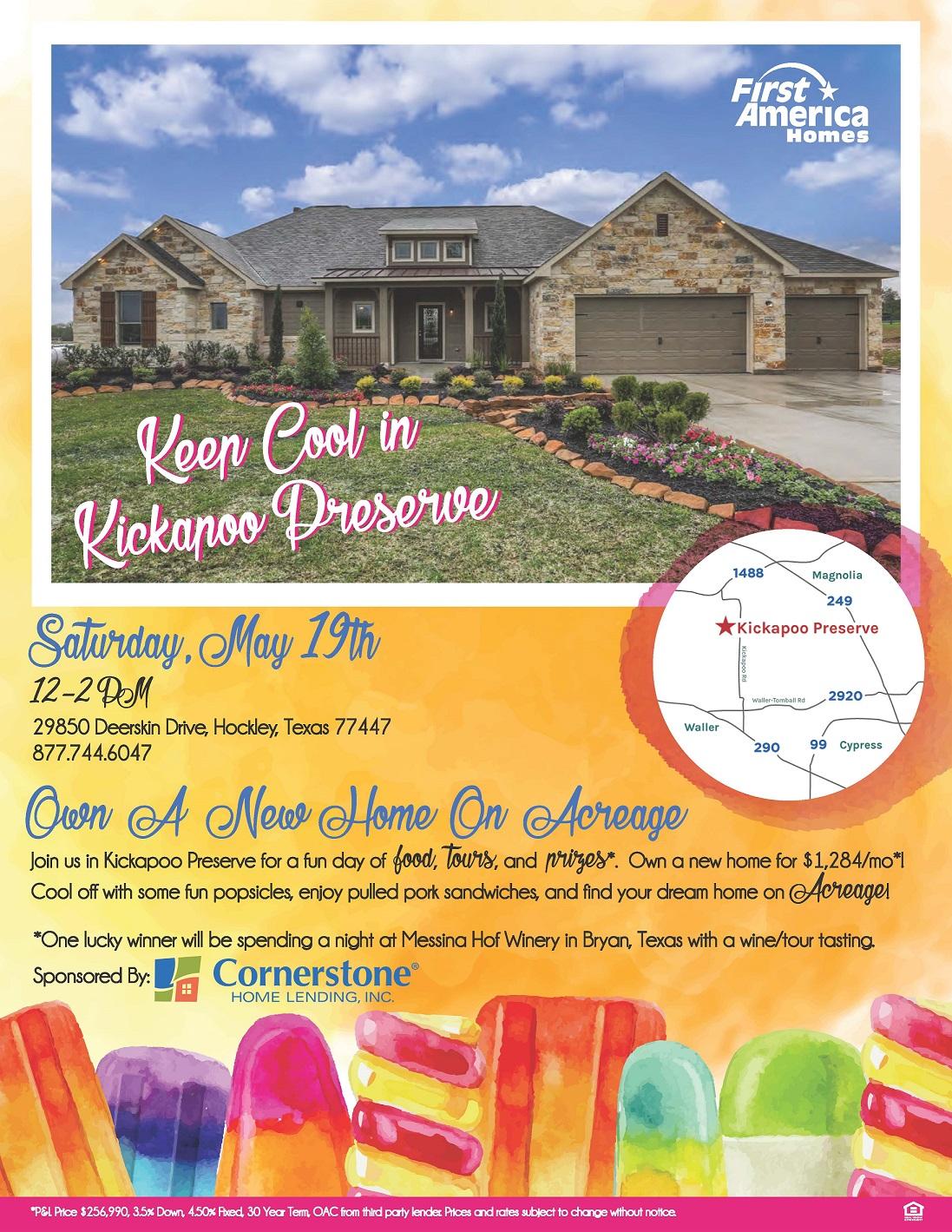 FAH Kickapoo Preserve Event Flyer