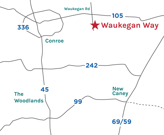 Waukegan Way Map