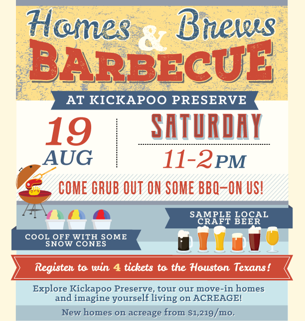 Homes Brew and BBQ in Kickapoo Preserve